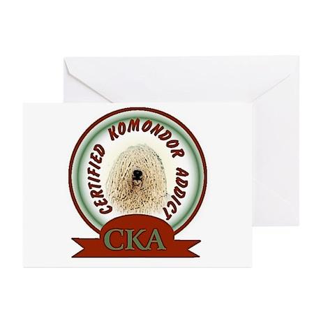 Komondor Addict Greeting Cards (Pk of 10)