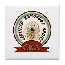 Komondor Addict Tile Coaster