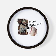 BASEBALL ROCKS (PIT BULL) Wall Clock