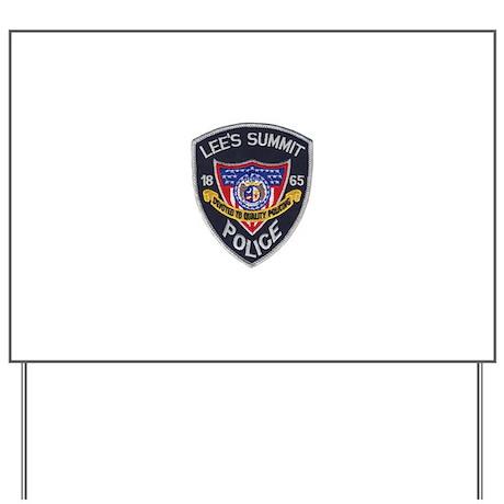 Lee's Summit Missouri Police Yard Sign