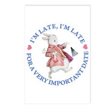 I'M LATE, I'M LATE Postcards (Package of 8)