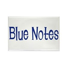 Blue Notes Rectangle Magnet