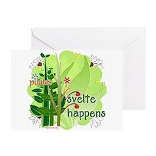 Pilates Svelte Happens Greeting Card