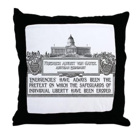 VON HAYEK Throw Pillow