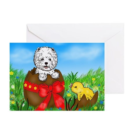 Easter Westie Greeting Cards (Pk of 20)