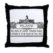 PLATO SPEAKS Throw Pillow