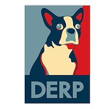 Derp Derp Derp Dog Postcards (Package of 8)