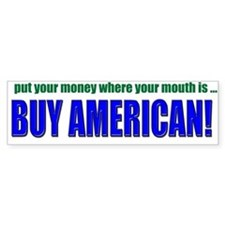 Buy American Bumper Car Sticker