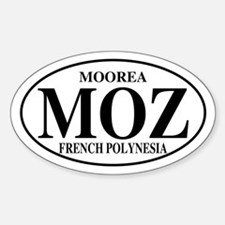 MOZ Moorea Oval Decal