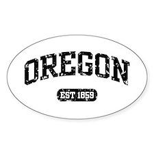 Oregon Est 1859 Oval Decal