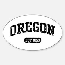 Oregon Est 1859 Oval Decal