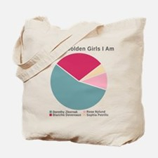 Golden Girls Pie Chart Tote Bag