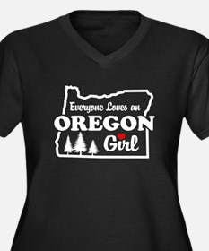 Everyone Loves an Oregon Girl Women's Plus Size V-