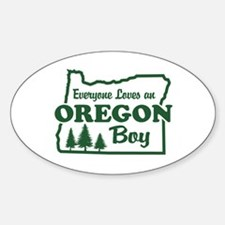 Everyone Loves an Oregon Boy Oval Decal