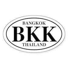 BKK Bangkok Oval Decal