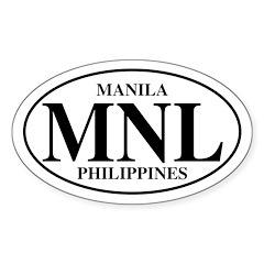 MNL Manila Oval Decal