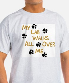 Walking Labrador Ash Grey T-Shirt