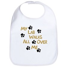 Walking Labrador Bib