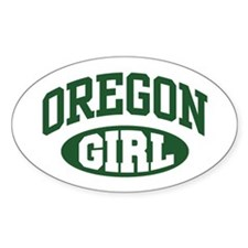 Oregon Girl Oval Decal