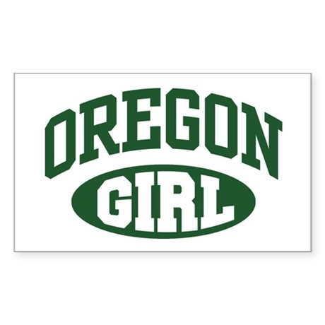 Oregon Girl Rectangle Sticker