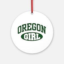 Oregon Girl Ornament (Round)