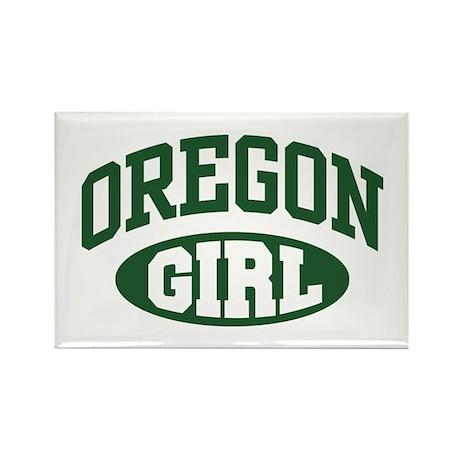 Oregon Girl Rectangle Magnet