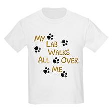Walking Labrador Kids T-Shirt