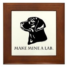 Make Mine A Lab Framed Tile
