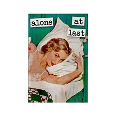 Alone At Last Rectangle Magnet