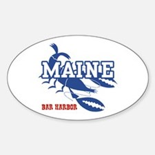 Maine Bar harbor Oval Decal