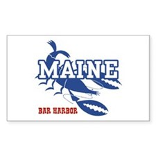 Maine Bar harbor Rectangle Decal
