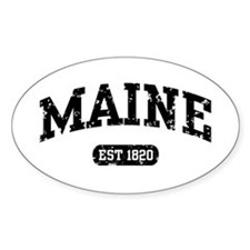 Maine Est 1820 Oval Decal