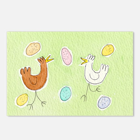 Happy Hens Postcards (Package of 8)