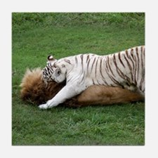 Lions and Tigers Tile Coaster