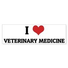 I Love Veterinary Medicine Bumper Bumper Sticker