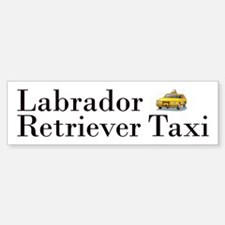 Labrador Retriever Taxi Bumper Bumper Sticker