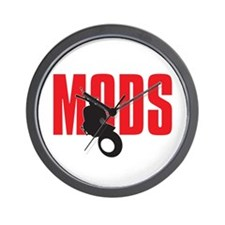 Mod Wheels Wall Clock