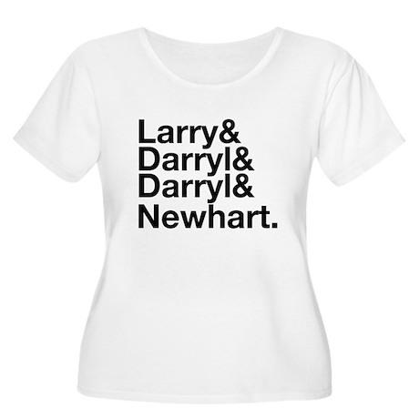 Larry & Darryl & Darryl Women's Plus Size Scoop Ne
