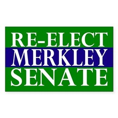 Re-Elect Merkley Senate Bumper Decal
