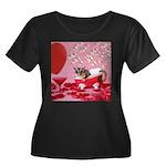 Valentine's Day #5 Women's Plus Size Scoop Neck Da
