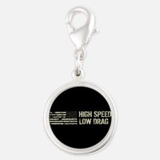 U.S. Military: High Speed Low Silver Round Charm