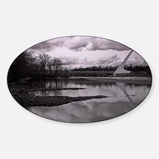 sundial bridge Oval Decal