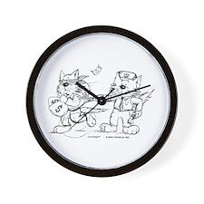 Police Cat Wall Clock