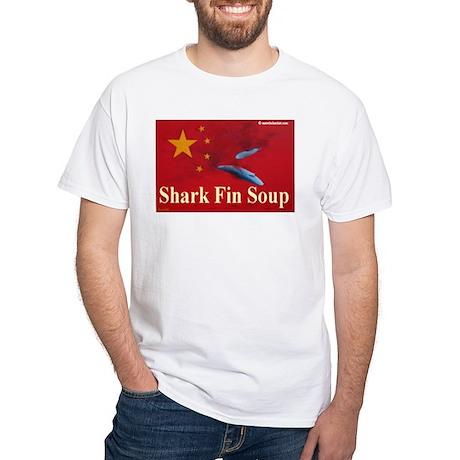 White T-Shirt anti shark finning 4