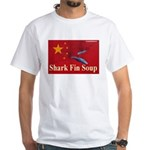 White T-Shirt anti shark finning 4