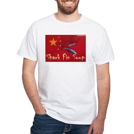 White T-Shirt anti shark finning 3