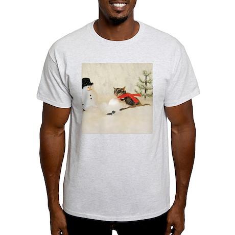 Glider Making Snowman Light T-Shirt