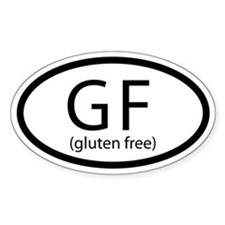 Car Decal - Gluten Free Oval Decal