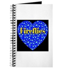 Fireflies Blue Heart Golden F Journal