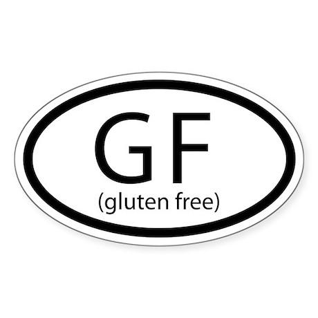 Gluten Free Car Sticker (Oval)